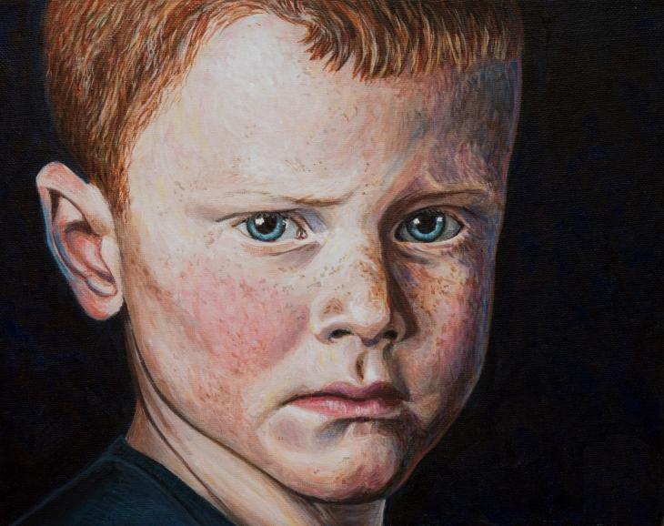 Acryl på lærred - 24 x30 cm