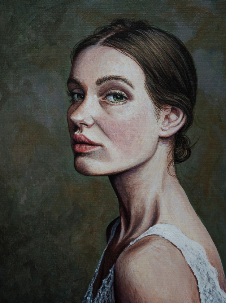 Acryl på lærred - 30 x 40 cm